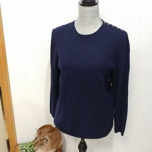 J.Crew Collection cashmere mini-cable sweater M
